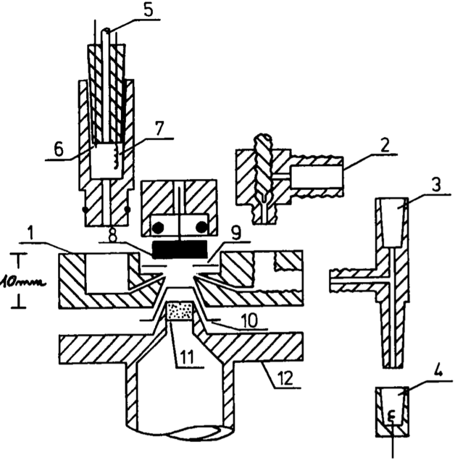 Schematic representation of the unique Spectro Inlets EC-MS microchip-based inlet